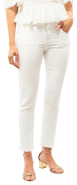 Item - White Light Wash Elsa Mid Rise Slim Fit Crop Capri/Cropped Jeans Size 27 (4, S)