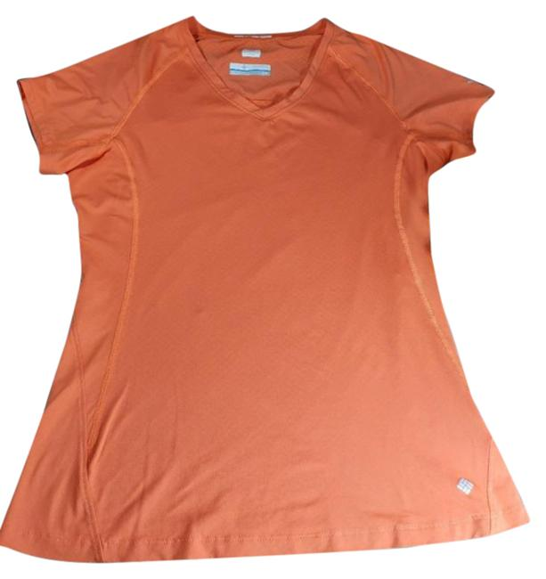 Item - Orange Omni Freeze Zero Sleeve Sport Blouse Tee Shirt Size Petite 6 (S)
