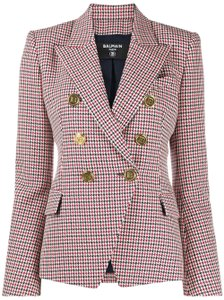 Item - Multi Pattern New Houndstooth Double-breasted Wool Jacket Blazer