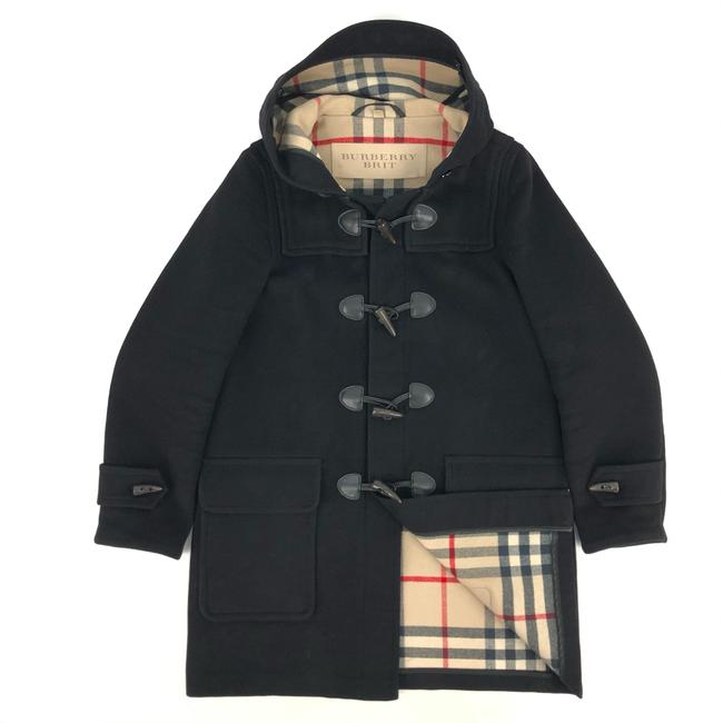 Item - Black Duffle W Womens Wool Nova Check Coat Size 12 (L)