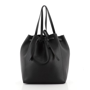Céline Leather Tote in Black