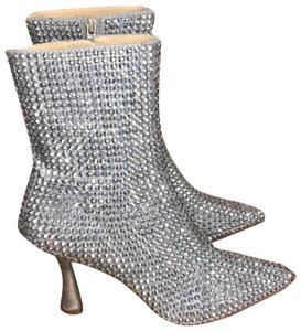 Betsey Johnson Silver Boots