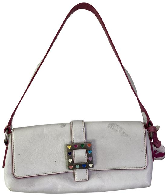 Item - Mini Purse White Leather Tote