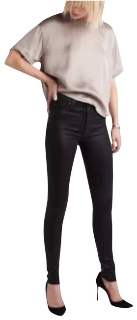 Item - Black Barbara Super Coated Skinny Jeans Size 29 (6, M)