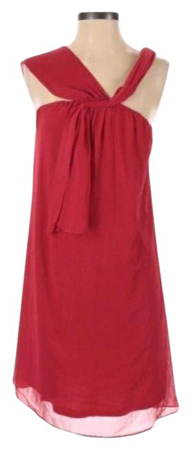 Item - Red Sleeveless Shift Mid-length Night Out Dress Size 4 (S)