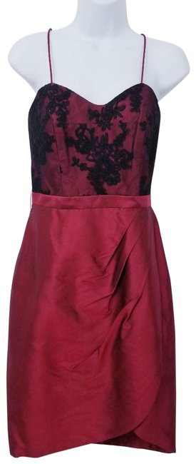 Item - Red Sweetheart Neckline Cocktail Dress Size 4 (S)