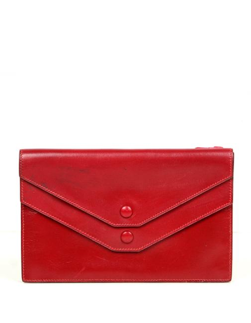 Item - Red Box Vintage Leather Multisnap As Is Wallet