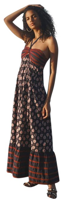Item - Blue and Brown New Zosime Halter Casual Maxi Dress Size 6 (S)