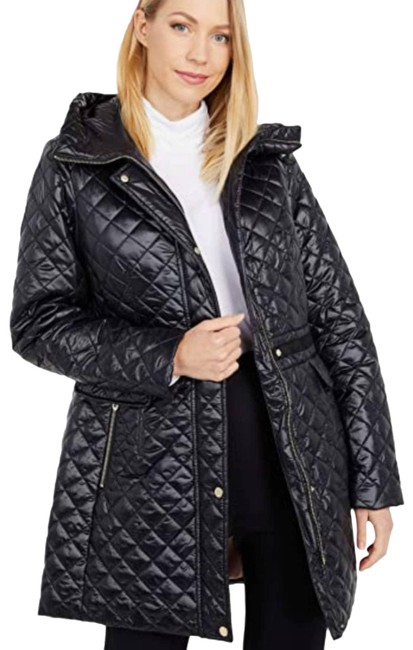 Item - Black L Quilted Hooded Jacket Coat Size 12 (L)