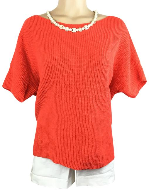 Item - Orange Knit Blouse Size 10 (M)