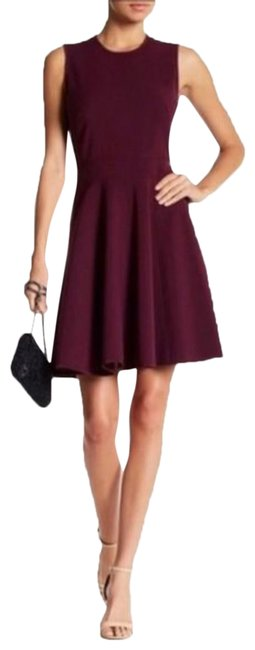 Item - Purple Silk Fit and Flare Suiting Mid-length Cocktail Dress Size 2 (XS)