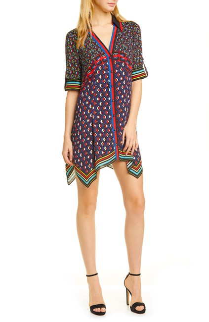 Item - Multi with Tag Connor Handkerchief Hem Shirtdress Short Night Out Dress Size 2 (XS)