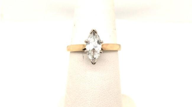 Item - Gold Natural Diamond Solitaire 14k Yellow Marquise Cut Engagement Ring