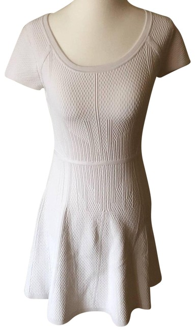 Item - White Shea Mid-length Short Casual Dress Size 4 (S)