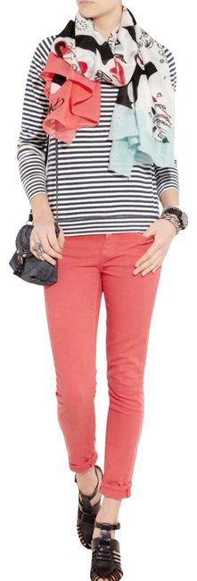 Item - Coral Medium Wash Toothpick Pants Ankle Skinny Jeans Size 29 (6, M)