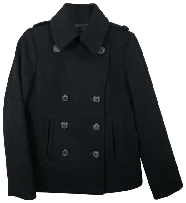 Item - Black Small Thinsulate Double Breasted Coat Size 6 (S)
