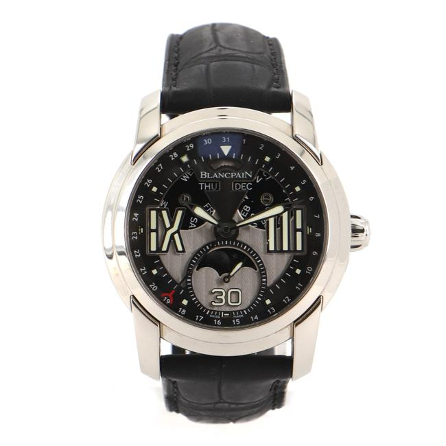 Item - Gray L-evolution Moonphase 8 Days Stainless Steel and Allig Watch