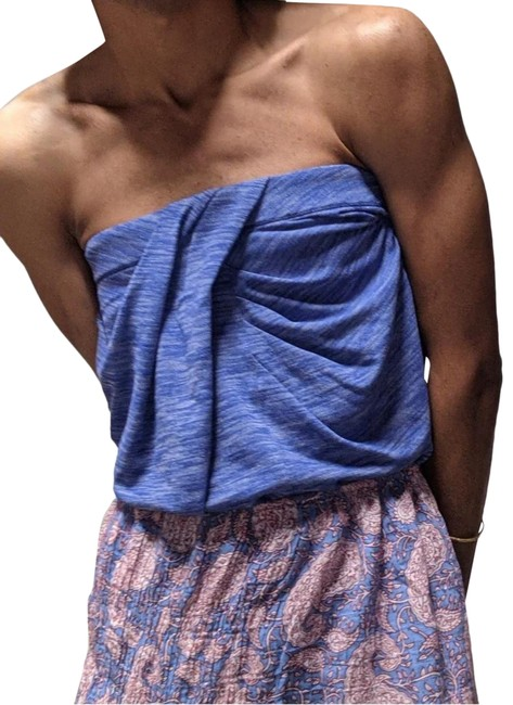 Item - Heather Blue Strapless Wrap Activewear Top Size 10 (M)