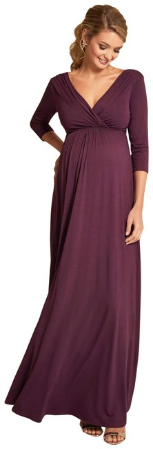 Item - Claret Jersey Willow Surplice Gown Maternity Dress Size 8 (M, 29)