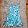 Lilly Pulitzer Blue & White Willow In Resort Short Casual Dress Size 0 (XS) Lilly Pulitzer Blue & White Willow In Resort Short Casual Dress Size 0 (XS) Image 4