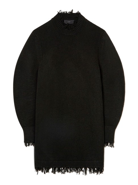 Item - Black Embassy Balloon Sleeves / Made with Flessage Technique Short Casual Dress Size 4 (S)