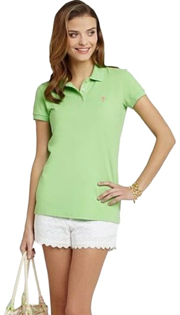 Item - Green White Label Island Gold Polo Tee Shirt Size 8 (M)