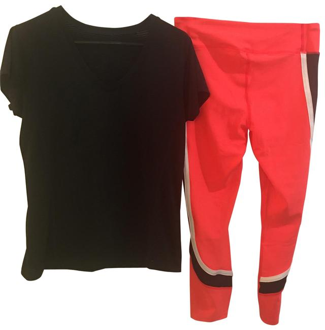 Item - Orange Black White Pants with Free Top Both Are Larges. Activewear Bottoms Size 12 (L)