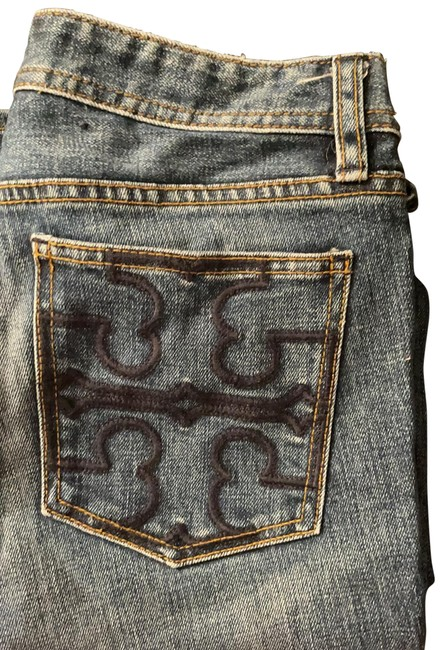 Item - Denim Blue Distressed Boot Cut Jeans Size 4 (S, 27)