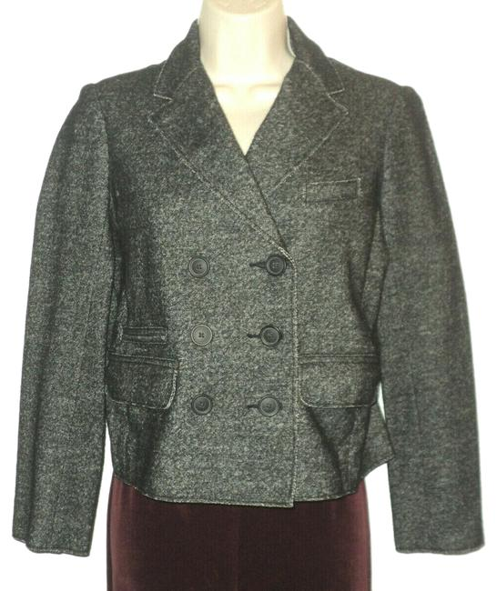 Item - Charcoal Gray Thandie Marled Double-breasted Notched Collar Blazer Size 6 (S)
