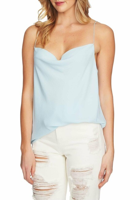 Item - Blue Cowl-neck Draped-back Camisole Tank Top/Cami Size 8 (M)