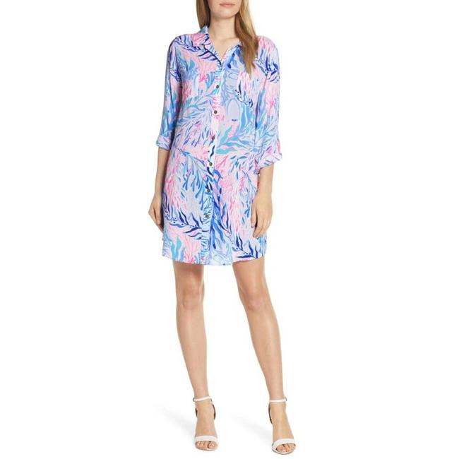 Item - Pink Natalie Shirtdress Cover-up/Sarong Size 00 (XXS)