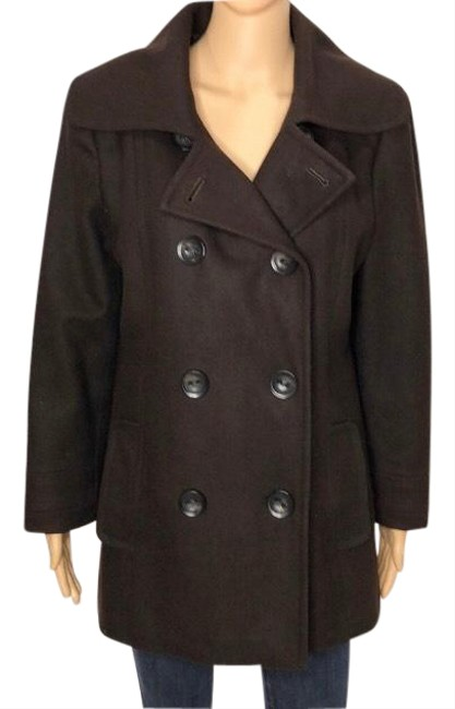 Item - Brown Double-breasted Wool Coat Size 10 (M)
