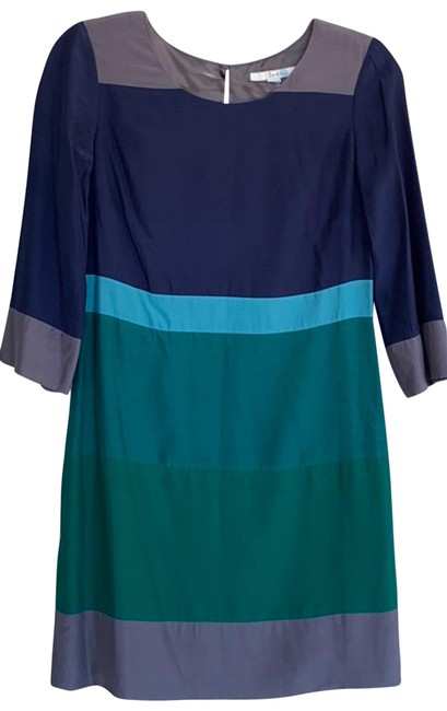 Item - Grey/Blue/Green Na Mid-length Work/Office Dress Size 4 (S)