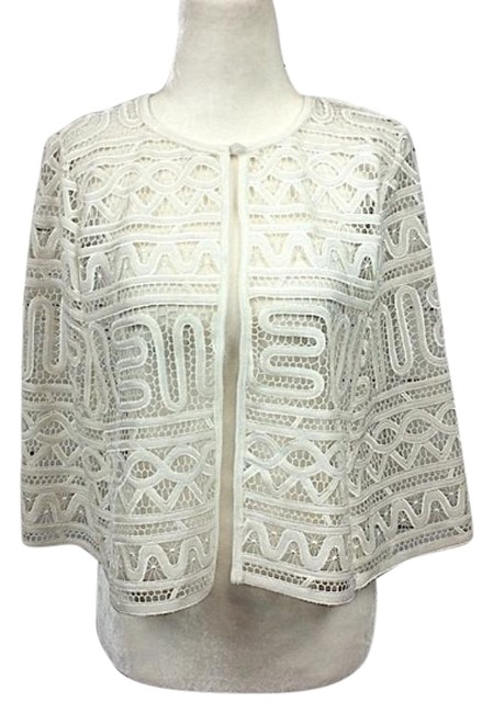 Item - Cream Cropped Velvet Lace Poncho/Cape Size 2 (XS)