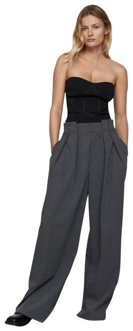 Item - Dark Grey Pleated Trousers Pants Size 8 (M, 29, 30)