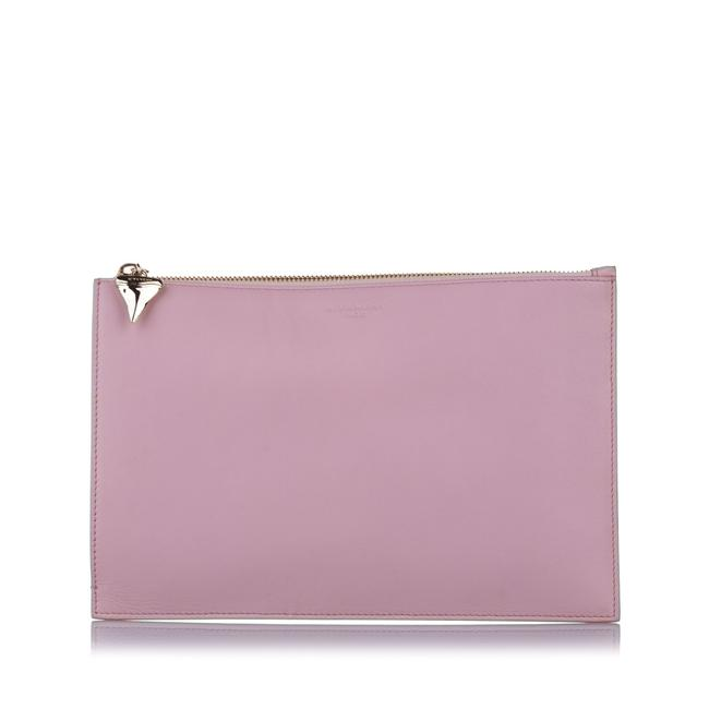 Item - Shark Tooth Pouch Pink Leather Wristlet