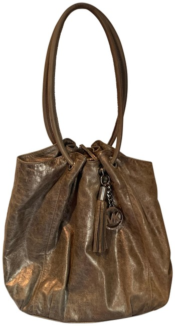 MICHAEL Michael Kors East West Ring Bronze Leather Tote MICHAEL Michael Kors East West Ring Bronze Leather Tote Image 1