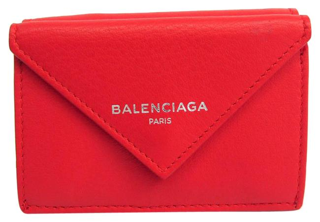 Item - Red Color Paper Mini 391446 Women's Leather (Tri-fold) Wallet