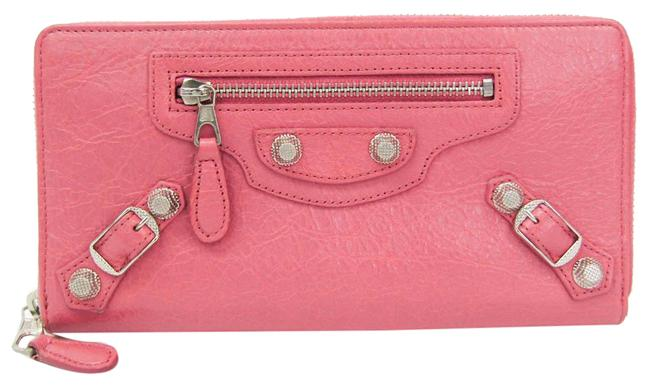 Item - Pink Long Continental Zip Around 253053 Women's Leather (Bi-fold) Wallet