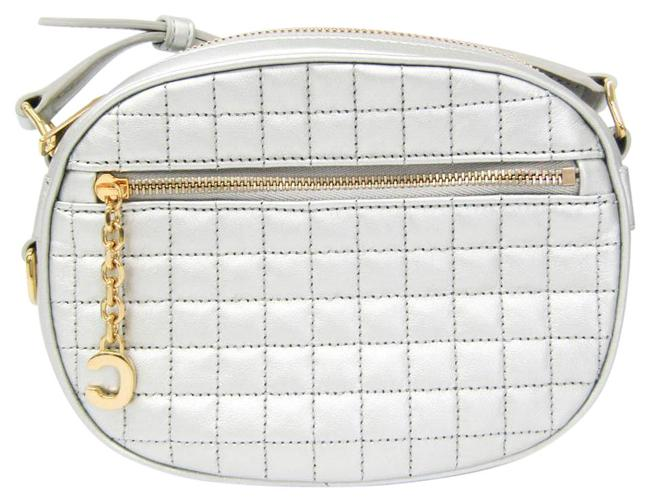 Item - Charm Small 188363 Women's Silver Leather Shoulder Bag