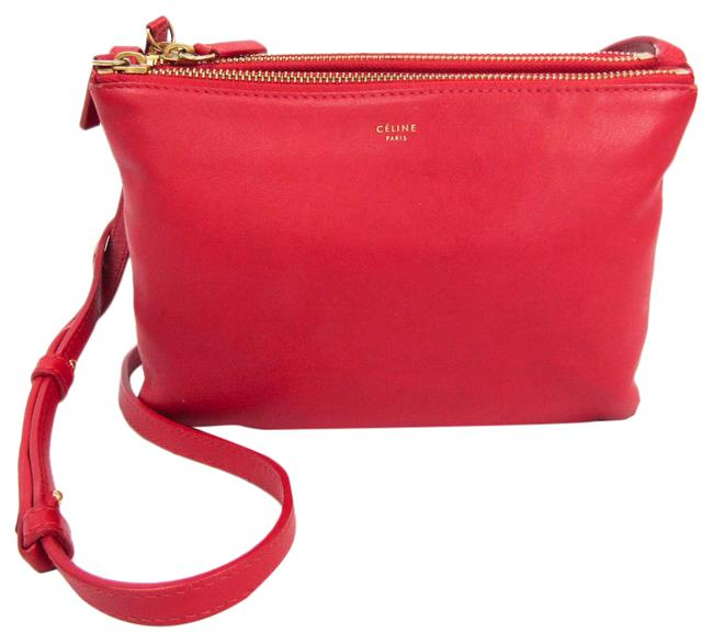 Item - Trio Small Women's Red Color Leather Shoulder Bag