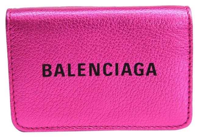 Item - Metallic Pink Everyday Compact 551921 Women's Leather (Tri-fold) Wallet