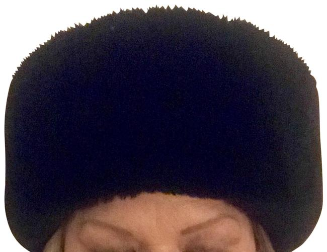 Item - Black New York Cossack Woven Berber Faux Fur Trim Hat