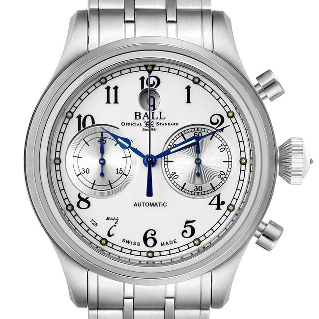 Item - White Trainmaster Cannonball Chronograph Steel Mens Cm1052d Card Watch