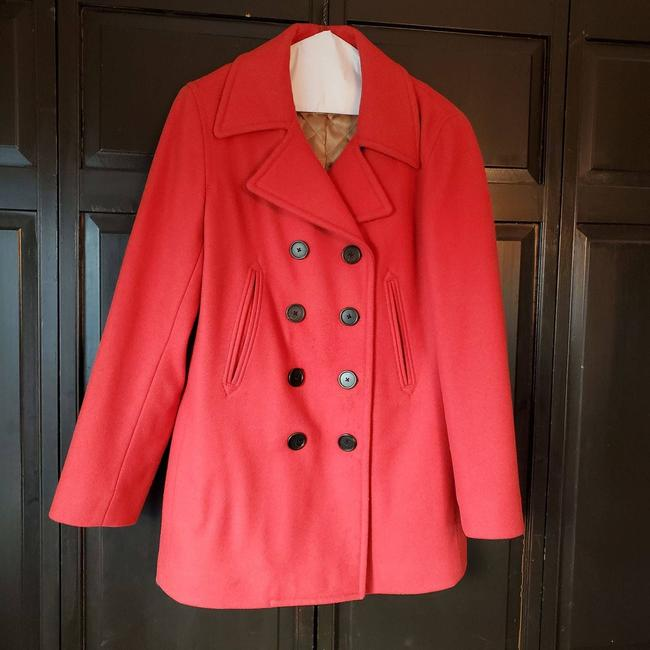 Item - Red Near-vintage Wool. Warm Thinsulate Lining Small Coat Size 6 (S)