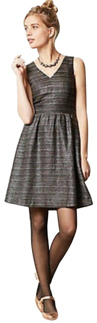 Anthropologie Brown Moulinette Soeurs Glissade and Bronze Tweed Texture Short Casual Dress Size 6 (S) Anthropologie Brown Moulinette Soeurs Glissade and Bronze Tweed Texture Short Casual Dress Size 6 (S) Image 1