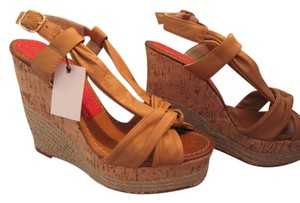 Paloma Barceló Espadrille Summer Tan Wedges