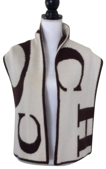 Item - Beige/Brown Cashmere Blend Long Scarf/Wrap