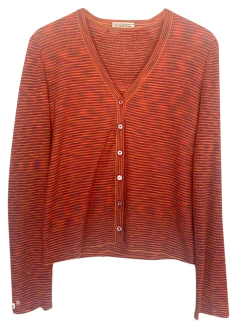 Item - Orange & Red Sport Stripe Cardigan + Set M Tank Top/Cami Size 8 (M)