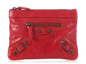 Item - Red 2007 Small Chevre Porte Monnaie Wallet